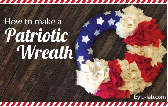 U-Fabricate – Red, White & Burlap Wreath DIY