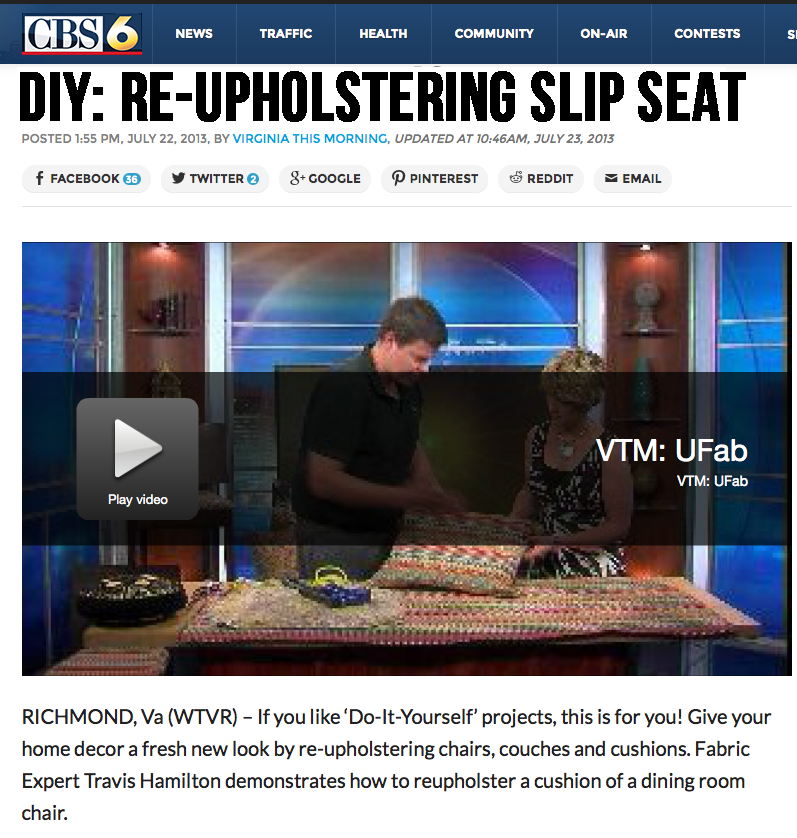 U-Fab shows you how to Re-Upholster Slip Seat
